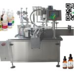 Automatic 120ml Gorilla Bottle Filling Plugging Lid Screwing Machine Rotary E cigs Filler Price