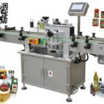 how to place label in right position for round bottle labeller