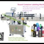 Beer Jar Can Labeller Automatic Self Adhesive Round Bottle Labeling Machine For Chile client
