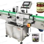 Automtic sticker adhesive labeler machine for round plastic pet glass tin can jar factory