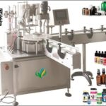 high speed Nasal Spray plugging and capping machine two heads cap stoppering lidder