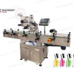 Automatic top surface label application machine for nail polish remover bottle suppliers