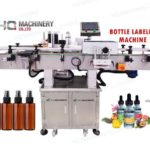 Automatic labeling machine for mist spray bottle label applicator device
