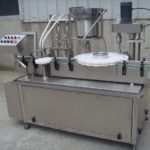 4 nozzles glass jar filling rotary single head capping machine solution paste filler machinery