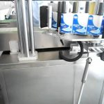 Auto labeler adhesive label applicator front back double sides labeling machine for flat bottles