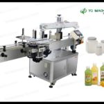 Factory Price for four side sticker label applicator machine square jar labeler videos