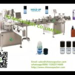Bottle feeding two nozzles volumetric filling stoppering lid capping labeling machines