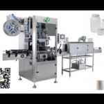 Automatic top side labeling machine round bottle labeler sleeve labeling equipment
