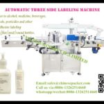 Automatic clear label pasting machine for square bottle one label three sided labeler