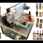 automatic glue labeling machine testing video for Dainel tin can wrap around labeler price