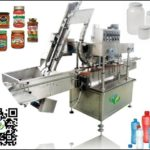 Automatic jar capping machine in-line cap screwing equipment with elevator