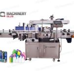 front and back labeling machine with wrap around label applicator