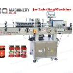 Jar labeling machine with date coder for plastic&glass taper bottle label applicator