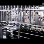 Automatic soy sauce filling machine linear type 12 heads glass bottling system for vinegar