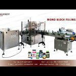 vial unscrambler rotary filler capper and sticker labeler machines|small bottle filling line
