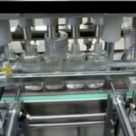 4  nozzles liquid filler for flat bottle fully auto filling machinery with Mitsubishi PLC controller