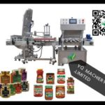 auto glass jar tin vacuum capping machine linear 3 heads lid screw equipment  with caps elevator