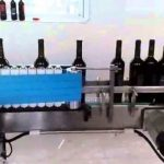 Double sides wet glue bottle labeling machine for wine bottles with paste paper labeler
