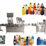 lquid shampoo 4 heads piston filling rotary lid cover capping stick labeling machine testing video f