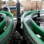 Glass jar washing, filling, capping line