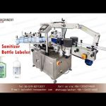 front and back labeling machine for oval suqare round bottle|sticker labeler for sanitizer bottle