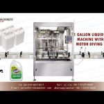 1 gallon bottle filling machine for bleach with diving system|gallon filler for hand sanitizer
