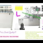 automatic vial filling plugging and capping machine for pharmaceuticals liquid piston filler