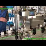 inline cream filling line for USA jar bottle turntable two heads piston filler lid sealing machines