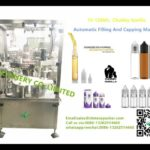 two nozzles rotary capping machine for chubby gorilla bottles lid screwing machines for USA client