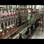 Automatic glass bottle filling machine, bottling machine for ketchup, hot sauces, fruit jam
