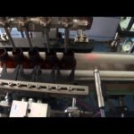 Round bottle filling plugging and rotary cap screwing machine with 4 heads liquid production line