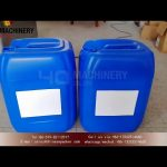 30L Drum Label Applicator|20L jerry can adhesive sticker labeling machines  demo