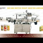 wrap around four side labeling machine for square bottles|YQ MACHINERY self adhesvie labeler