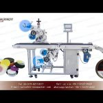 top and bottom self adhesive labeling machine for plastic lid|YQ machinery flat labeller