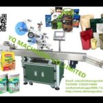 automatic adhesive plane labeling machine best prices for box card lid plastic pouch top labeler