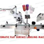 Top and bottom label application machine for boxes|flat surface sticker labeller