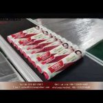 automatic sticker labeling machine for plastic wraps|front and back labeler for food wrapper