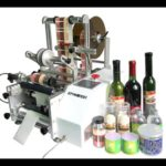 Manual Syringe labeling machines for round object semi automatic sticker label applicator system