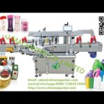 Double sided labeling machine plastic oval bottle sticker label applicator for Philippine customer