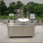 100ML 4 nozzles Automatic plastic bottle filling & capping & labelling machineآلة ملء السد