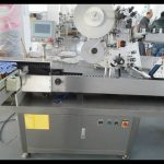 Automatic horizontal labelling machine with photoelectric detection device adhesive label applicator
