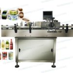 5 steps to use wrap around adhesive labeling machine for round shape bottles jars cans warehouse