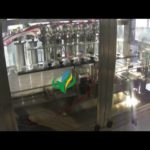 Automatic 100-1000ml juice filling production line cream filler rotary capping labeling machine