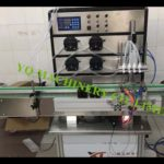 automatic 4 nozzles vial filling machine with conveyor for CBD oil essential oil and E liquid filler