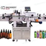 vial top and wrap around labeling machine for 15ml nail polish remover plastic bottles factory