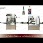 Inline filling system for glue|YQ machinery servo control volumetric piston  small scale fillers