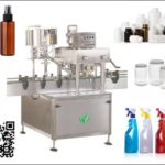 Auto inline lid revolving machine for plastic cap Spindle Capping machinery foil sealer