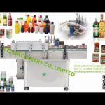 Automatic one side cold paste bottle labeling machinery glass jar iron can tin labeler machine