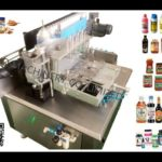 automatic cold glue label applicator testing video for danile cans tins paste