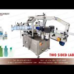 front and back bottle sticker labeling machines|two sided label applicators for hand sanitizer